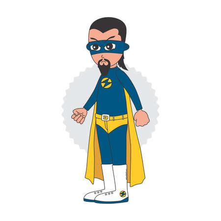 saviour: superhero cartoon theme vector graphic art illustration