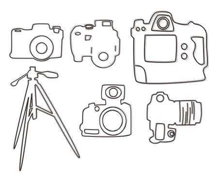 capturing: media interface camera vector graphic art illustration
