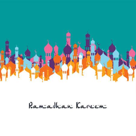 islamic ramadhan mubarak art theme vector illustration