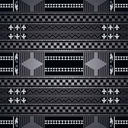 cherokee: native america pattern art theme vector illustration