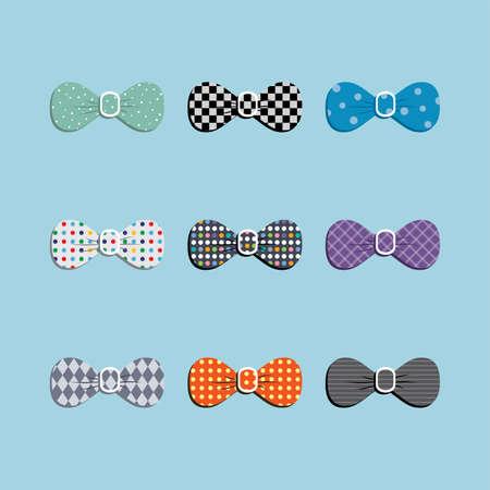 office wear: bow tie set theme vector art illustration