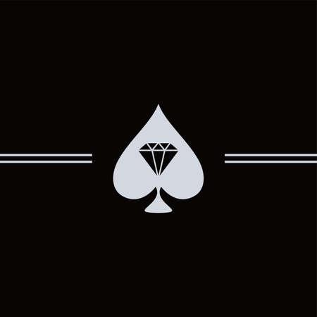 spade: spade diamond art theme vector art illustration Illustration