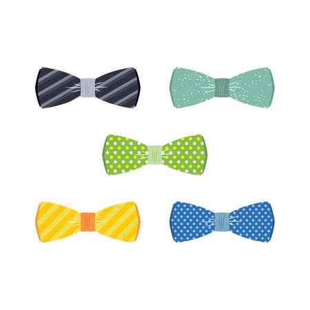 servant: bow tie set theme vector art illustration