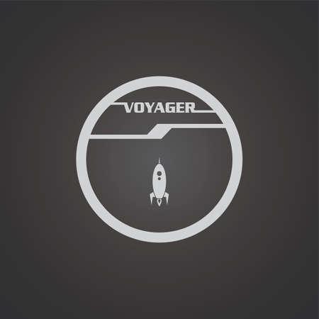 space shuttle: rocket space shuttle theme vector art illustration Illustration