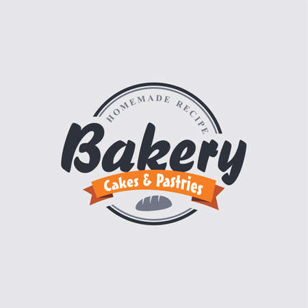 pastry bakery label theme vector art illustration