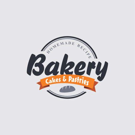 pastry bakery label theme vector art illustration