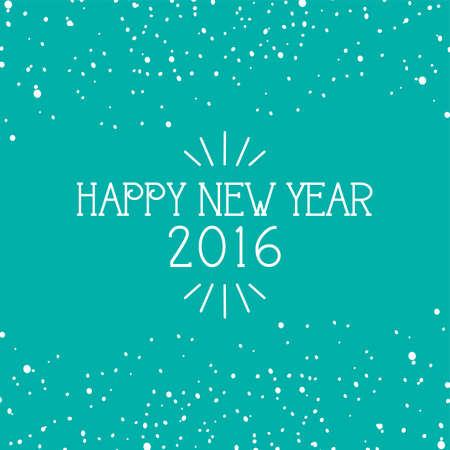 resolutions: happy new year theme vector art illustration