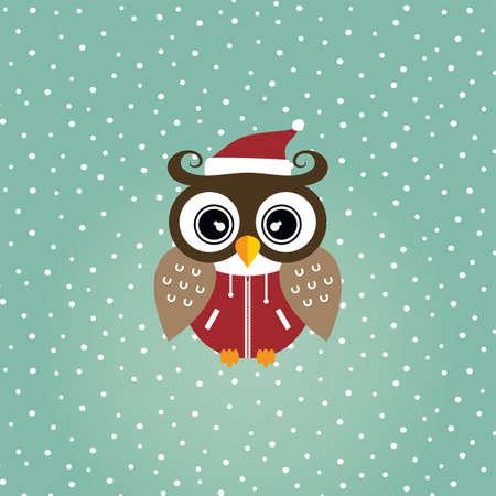 nocturnal animal: cool owl art theme vector graphic illustration Illustration