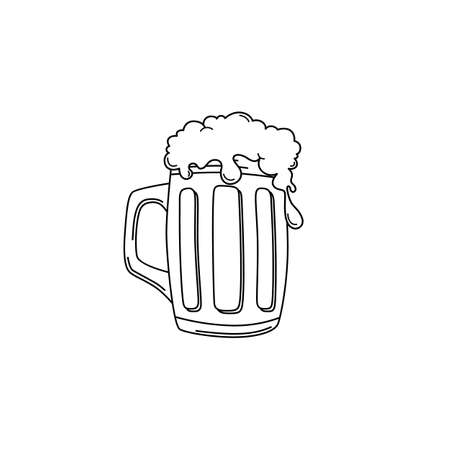 brewery: cold beer brewery and drink theme vector art illustration