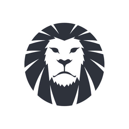 lion king: lion head icon theme template vector art illustration