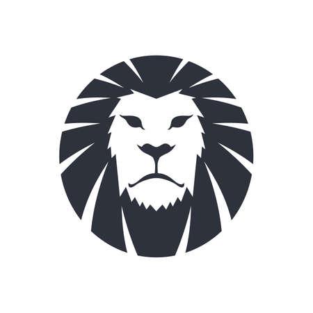 lion dessin: tête de lion modèle icône de thème vector art illustration