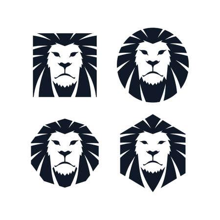 leeuwenkop pictogram themasjabloon vector kunst illustratie