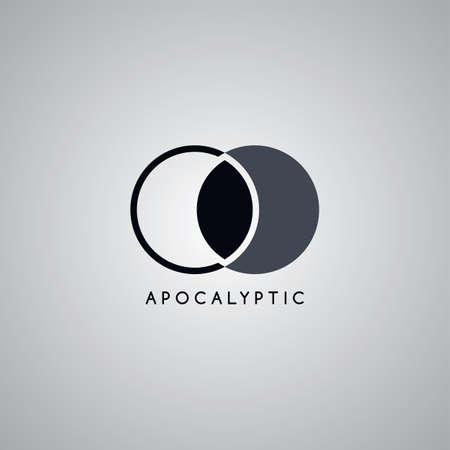 apocalypse: apocalypse moon logo template vector art illustration Illustration