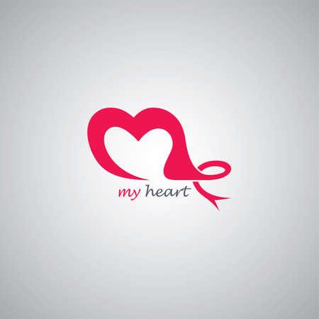 poems: love theme logo template vector art illustration