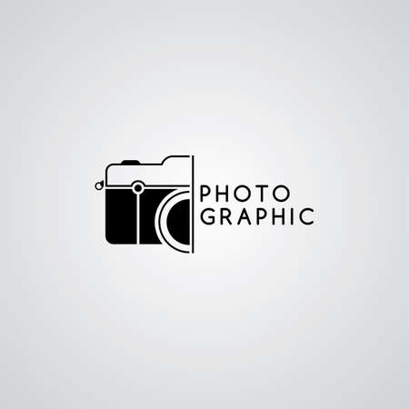 caméra photographie thème logo template vector art illustration