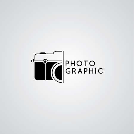 camera photography logo template theme vector art illustration