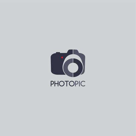 カメラ写真ロゴ テンプレート テーマ ベクトル アート イラスト  イラスト・ベクター素材