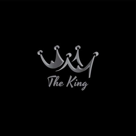 king crown logo template vector art illustration