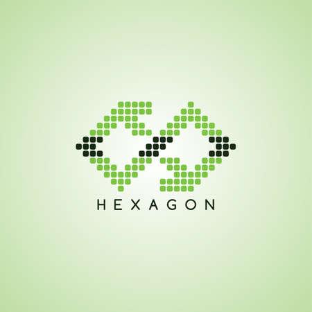logo pixel thème signe template illustration vectorielle