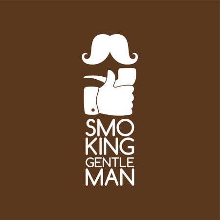 sir: pipe smoker like thumb up theme vector art illustration Illustration