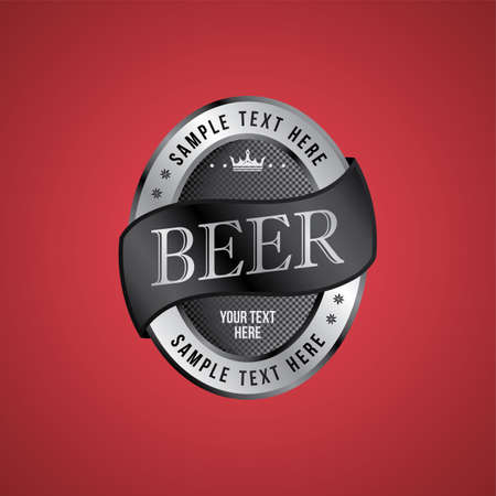 brewery: brewery beer label theme vector art illustration Illustration