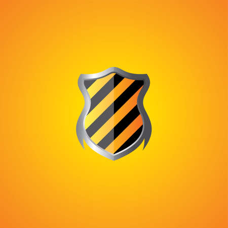 honour guard: protection shield theme vector art graphic illustration Illustration