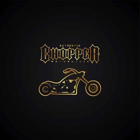 chopper: chopper motorcycle logotype theme vector art illustration