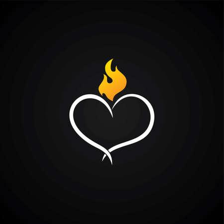 carta de amor: coraz�n d�a ilustraci�n del arte del vector del tema de San Valent�n Vectores