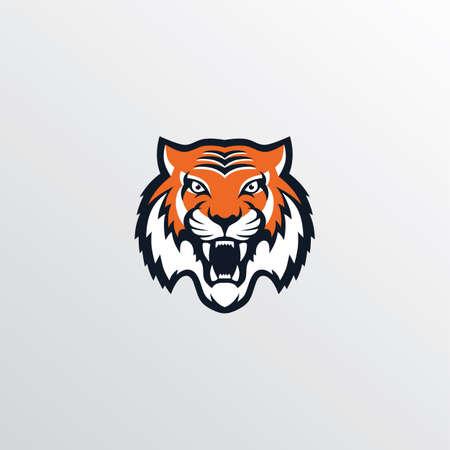 wilde tijger logotype thema vector kunst illustratie