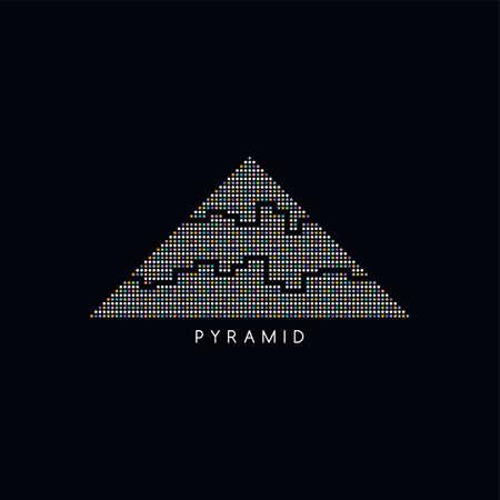 logotype: triangle shape dot logotype vector art illustration
