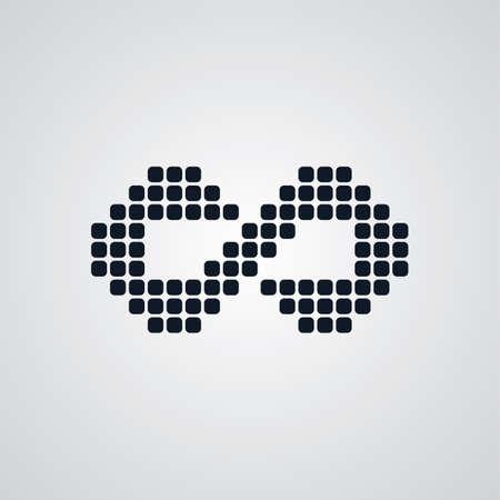 infinity sign logotype theme vector art illustration Illustration
