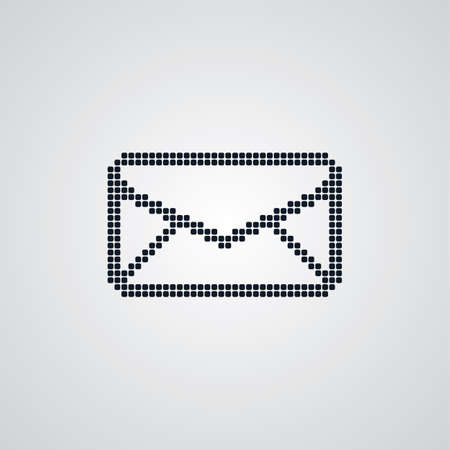 post scripts: mail dot logotype theme vector art illustration
