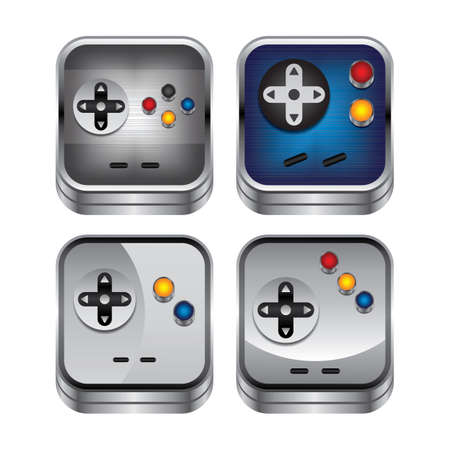 handheld device: game console button Illustration