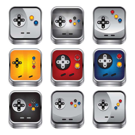 game console: game console button Illustration
