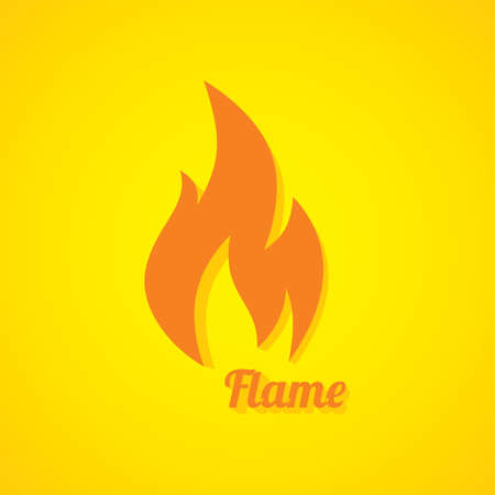 flaming: flaming burn fire theme vector art illustration