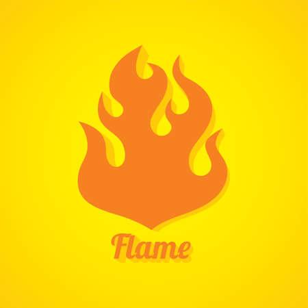 burn: flaming burn fire theme vector art illustration