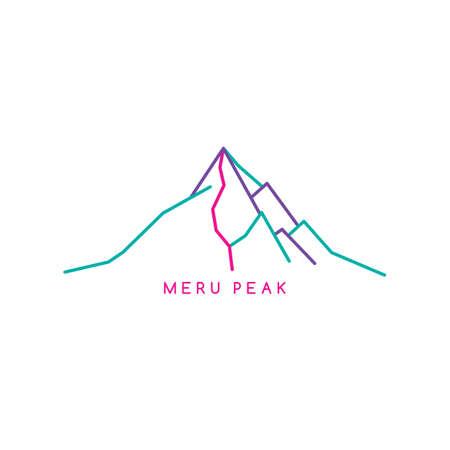 great mountain range theme vector art illustration