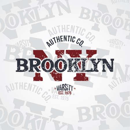 varsity: new york varsity theme vector art illustration Illustration