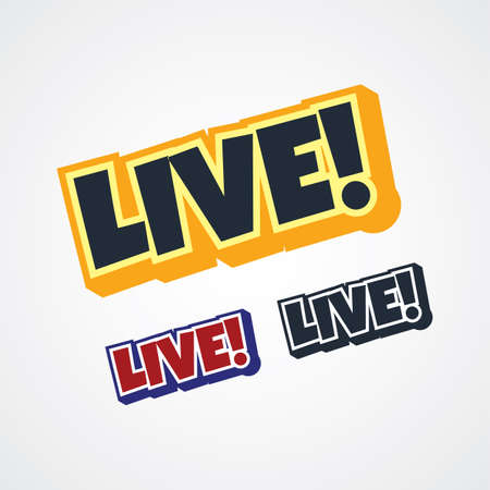 live streaming theme sign vector art illustration Illustration