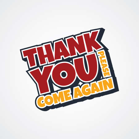 thank you sign: thank you sign theme vector art illustration