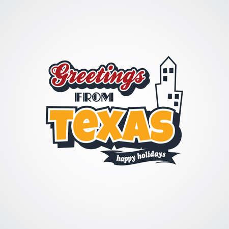 texas vacation greetings theme vector art illustration