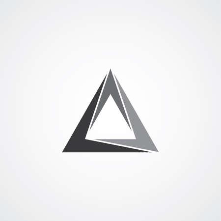 network marketing: triangle logotype theme vector graphic art illustration Illustration