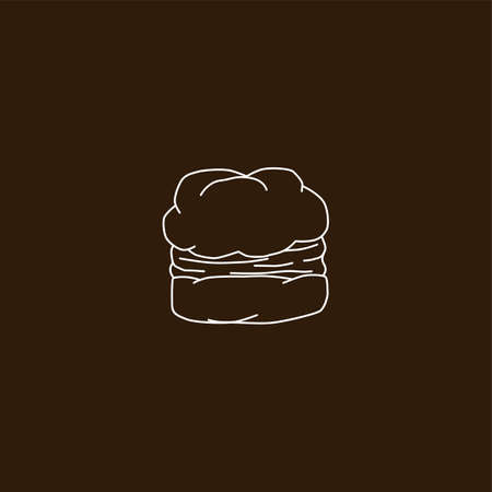 puff pastry: choux pastry cream puff food theme vector art illustration