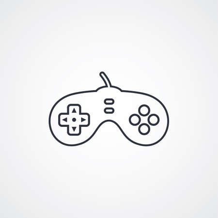 joypad: game console game joystick theme vector art illustration Illustration
