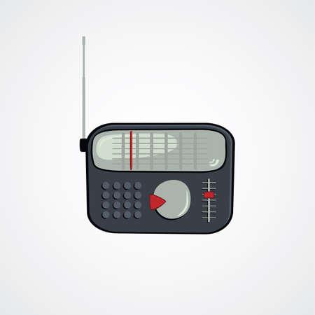old radio: cartoon theme old radio vector art illustration