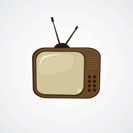 television icon: cartoon television icon theme vector art illustration Illustration