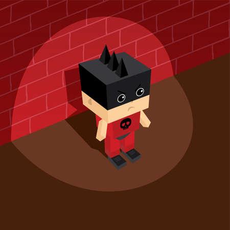 villain: superhero villain isometric theme vector art illustration