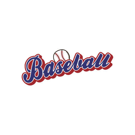 ligue de baseball thème du sport vector art illustration
