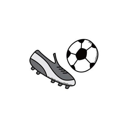 collegiate: soccer cartoon icon theme vector art illustration