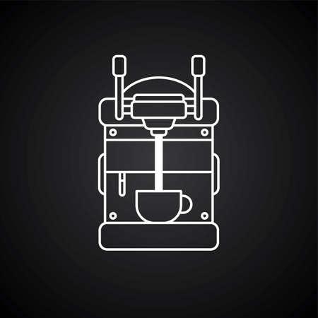koffiezetapparaat cartoon thema vector kunst illustratie
